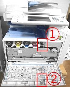 コピー機の内部