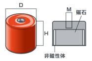 アルニコポットマグネットの寸法